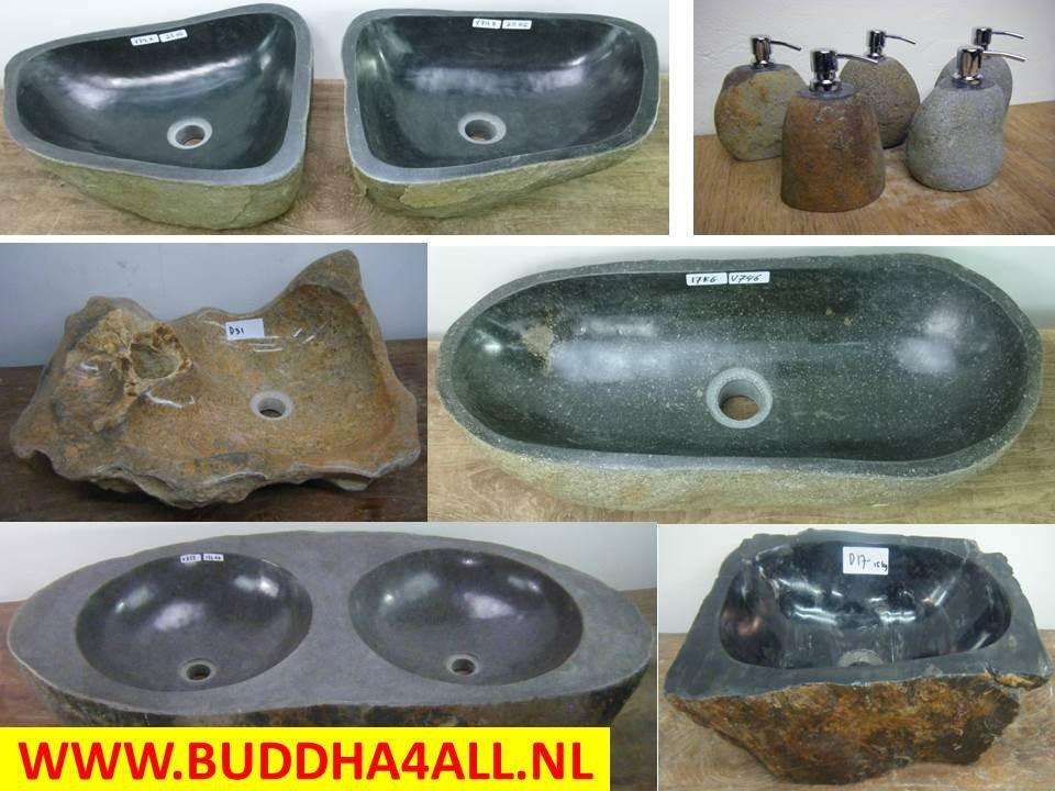 Natuursteen waskom buddha all