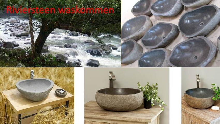 Wasbak Badkamer Grijze : Thijs noldus art of nature wasbakken riviersteen deel