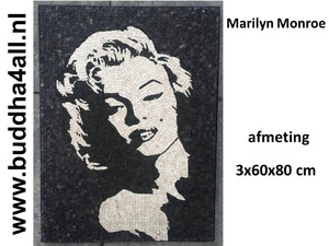 Marmer mozaiek painting marilyn