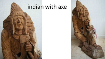 indian with axe hoogte 58cm