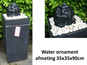 water-ornament funny buddha